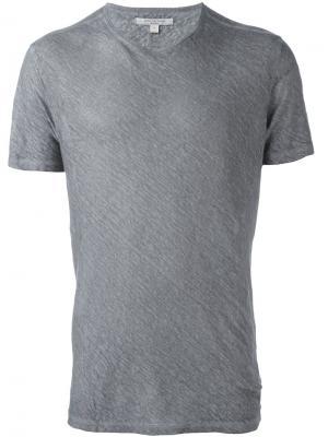 Классическая футболка John Varvatos. Цвет: серый