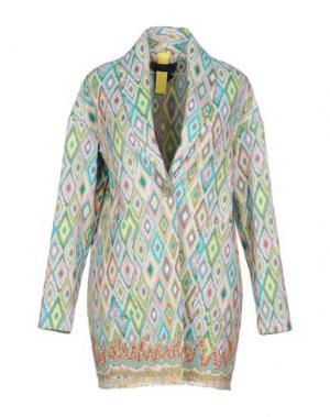 Легкое пальто FEMME by MICHELE ROSSI. Цвет: светло-зеленый