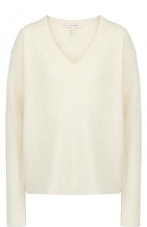Шерстяной пуловер свободного кроя с V-образным вырезом Marc Jacobs. Цвет: бежевый