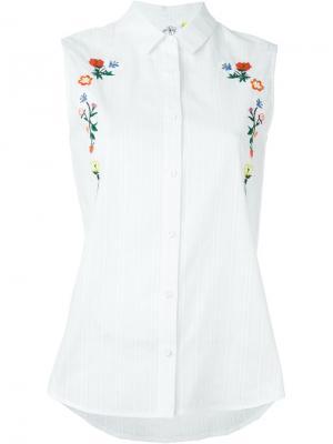 Рубашка с цветочной вышивкой Steve J & Yoni P. Цвет: белый