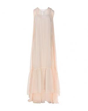 Длинное платье JUCCA. Цвет: бежевый