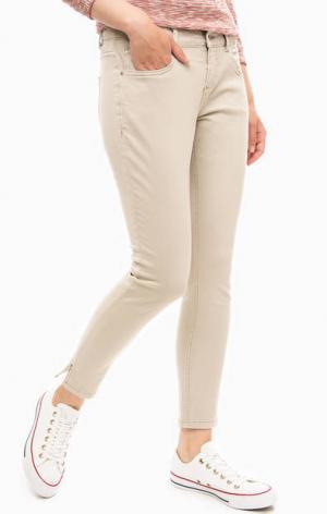 Укороченные хлопковые брюки s.Oliver. Цвет: серый