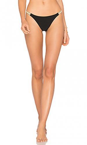 Прочные плавки бикини с джутовой отделкой Vix Swimwear. Цвет: черный