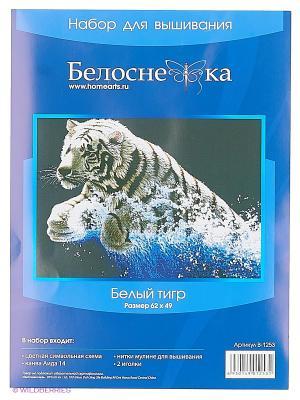 Наборы для вышивания. Белый тигр Белоснежка. Цвет: белый