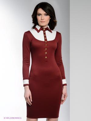 Платье Enna Levoni. Цвет: бордовый, белый