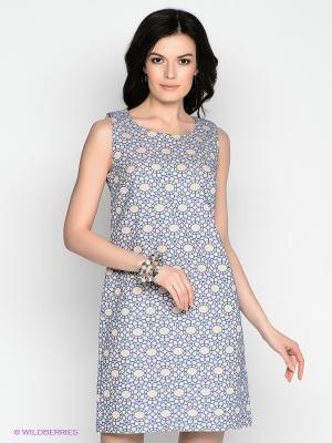 Платье Vis-a-vis. Цвет: синий, бежевый