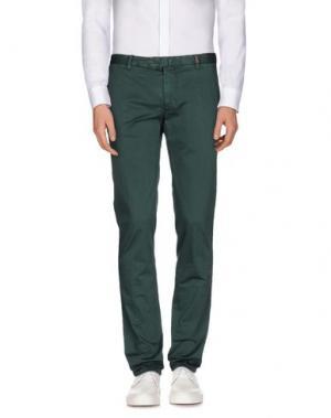 Повседневные брюки GIO ZUBON. Цвет: зеленый