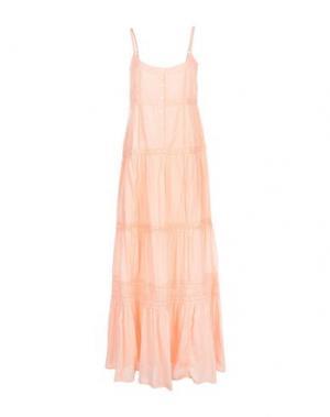 Длинное платье MELISSA ODABASH. Цвет: лососево-розовый