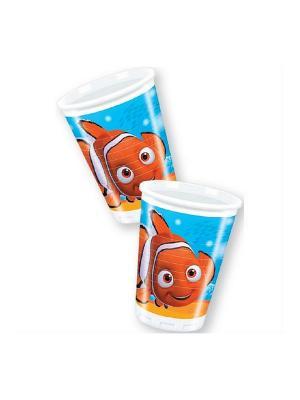 Стаканы пластиковые В поисках Немо 180 мл, 8 шт. Procos. Цвет: оранжевый