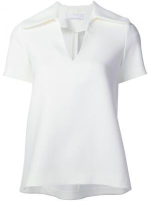 Блузка c V-образным вырезом Co. Цвет: белый