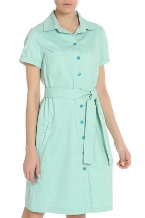 Платье на пуговицах и поясе NATALIA PICARIELLO. Цвет: мятный