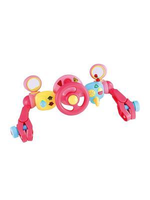 Активная игрушка на коляску Руль управления для малыша, цвет розовый ELC. Цвет: розовый