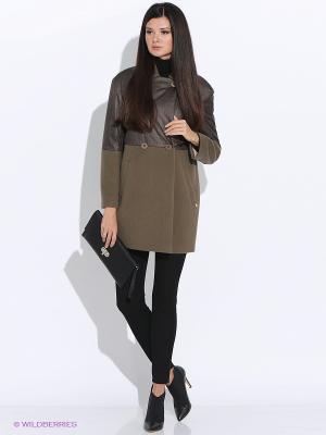 Пальто PAROLE by Victoria Andreyanova. Цвет: коричневый