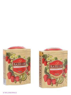 Чайный набор Волшебные фрукты Клубника и киви Basilur. Цвет: светло-бежевый, красный, зеленый