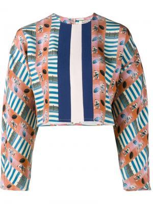 Укороченная блузка с узором Tata Naka. Цвет: многоцветный