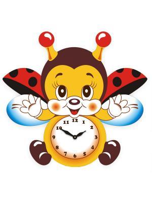 Часы настенные Михаилъ Москвинъ. Цвет: желтый, голубой, красный
