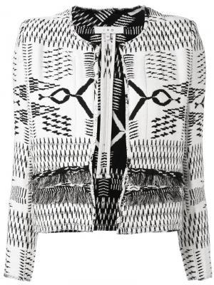Куртка с контрастной строчкой Iro. Цвет: белый