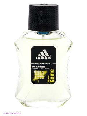 Туалетная вода adidas Pure Game для мужчин 50 мл. Цвет: черный