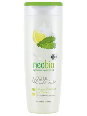 Пена для душа и ванны с био-мелиссой лимоном Neobio. Цвет: светло-желтый