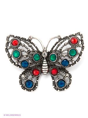 Брошь Lovely Jewelry. Цвет: синий, зеленый, красный