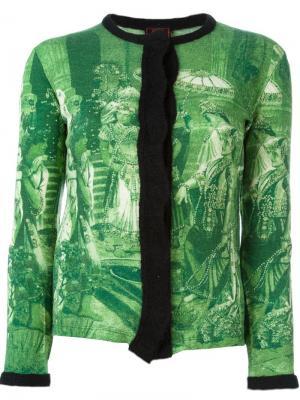 Кардиган с графическим принтом Jean Paul Gaultier Vintage. Цвет: зелёный
