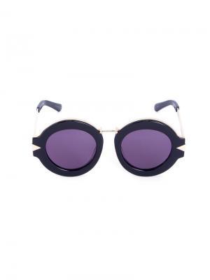 Солнцезащитные очки Maze Karen Walker Eyewear. Цвет: чёрный