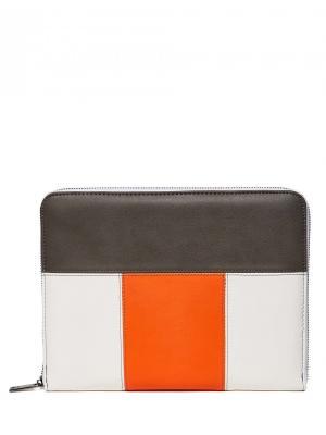 Чехол United Colors of Benetton. Цвет: белый, коричневый, оранжевый