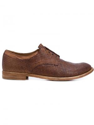 Плетеные туфли Оксфорды Lexikon Officine Creative. Цвет: коричневый