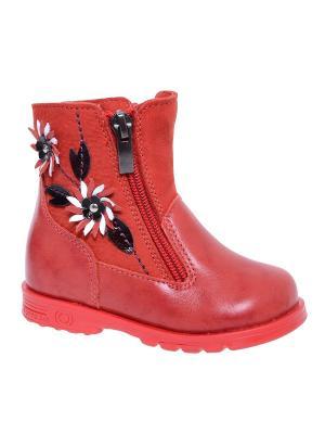 Ботинки Тотто. Цвет: красный