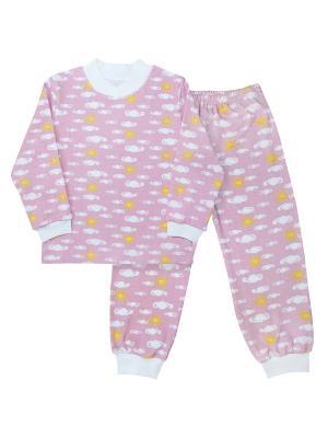 Пижама Веселый малыш. Цвет: розовый, желтый, белый
