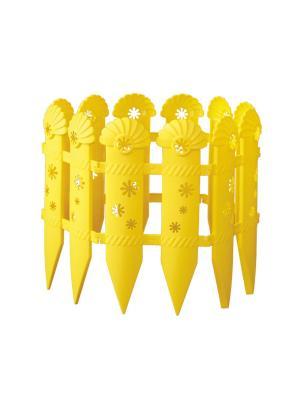 Ограждение Ромашки (2,4м) Альтернатива. Цвет: желтый