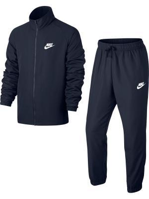 Спортивный костюм M NSW TRK SUIT WVN BASIC Nike. Цвет: синий, белый