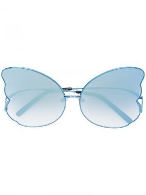 Солнцезащитные очки в форме бабочки Matthew Williamson. Цвет: синий
