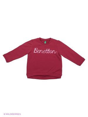 Свитшот United Colors of Benetton. Цвет: лиловый, молочный