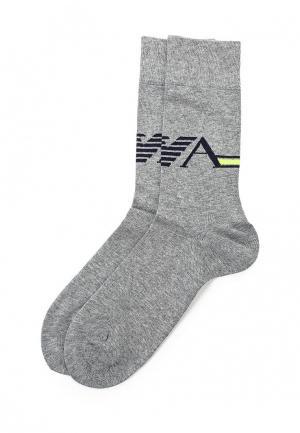 Комплект носков 2 пары Emporio Armani. Цвет: серый