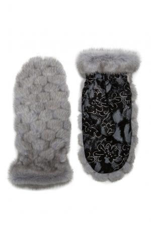 Варежки из меха норки 182542 Mkc. Цвет: серый