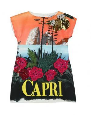 Платье DOLCE & GABBANA. Цвет: оранжевый