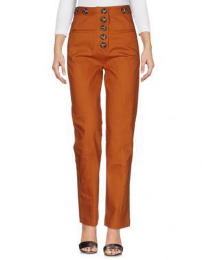 Джинсовые брюки SELF-PORTRAIT. Цвет: коричневый