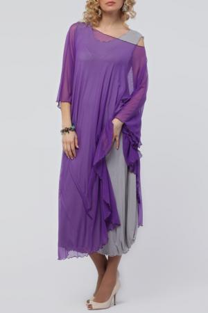 Платье Kata Binska. Цвет: сиреневый, серый
