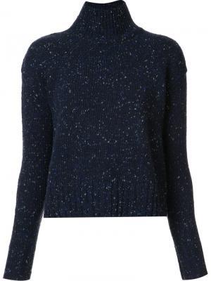 High neck sweater Organic By John Patrick. Цвет: синий
