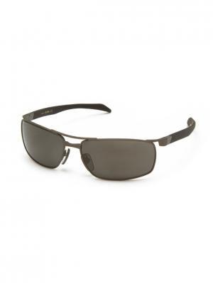 Солнцезащитные очки ZERORH+. Цвет: коричневый, темно-серый