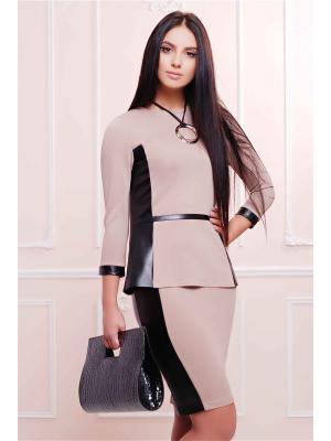 Костюм Fashion Up. Цвет: бежевый, черный