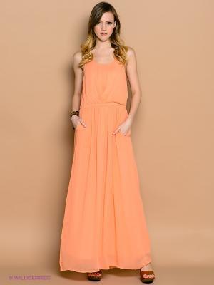 Платье ICHI. Цвет: персиковый