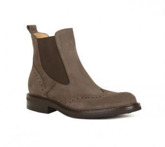 Простые серые замшевые ботинки с высоким голенищем от Berto Giantin