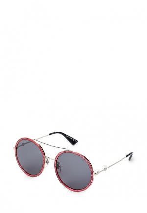 Очки солнцезащитные Gucci. Цвет: бордовый
