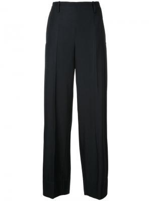 Широкие брюки с высокой талией Lemaire. Цвет: синий