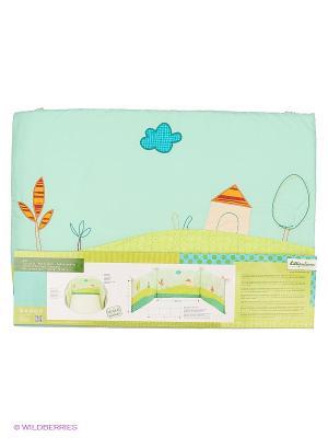 Собачка Джеф Развивающий бампер на кроватку Lilliputiens. Цвет: бирюзовый, голубой