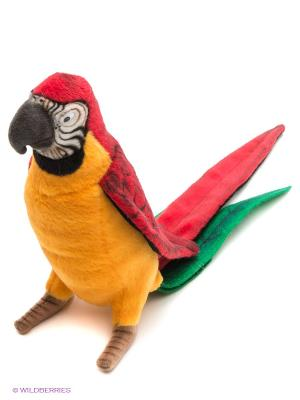 Желтый попугай, 37 см Hansa. Цвет: желтый, красный