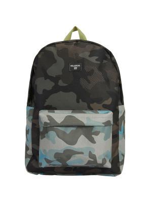 Рюкзак ALL DAY (FW17) BILLABONG. Цвет: черный, темно-коричневый, серо-голубой, серо-зеленый