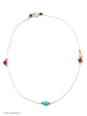 Браслет-колье Bijoux Land. Цвет: белый, бирюзовый, бордовый